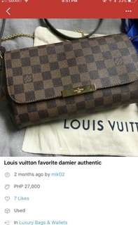 Favorite damier louis vuitton authentic