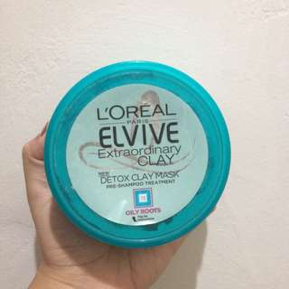 Loreal Detox hair clay mask