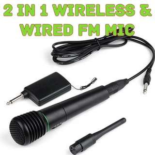 VHF Lapel Wired & Wireless Handheld Professional Microphone / Tour Guide & Teaching Loudspeaker with Mic  PM : 92325050