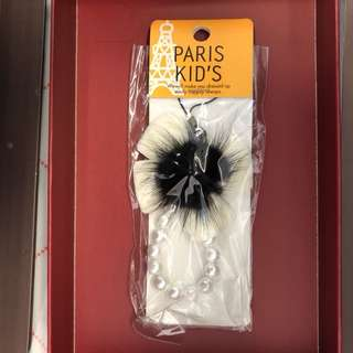 全新 日本 原宿 Paris Kids 鎖匙扣 掛飾 電話繩 蝴蝶 羽毛 珠 mobile strap charm keychain