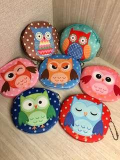 Owl Purse Soft Velvet Feel