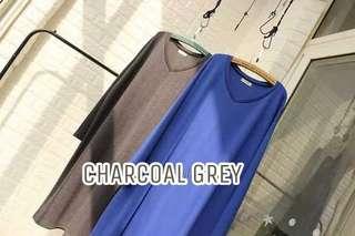 Charcoal Grey Long Sleeve Sweater