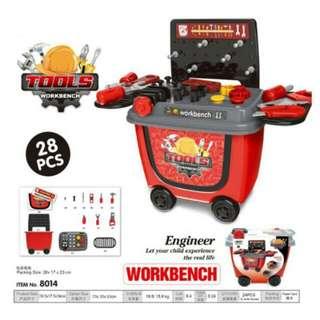 FREE POS Ready Stock Tools Workbench Kids Role Play Pretend (28pcs)