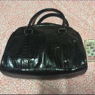 ✨Reduced Price! Black faux leather work bag