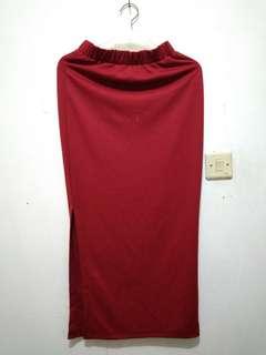 2 Slit Skirts (Red&Rose)