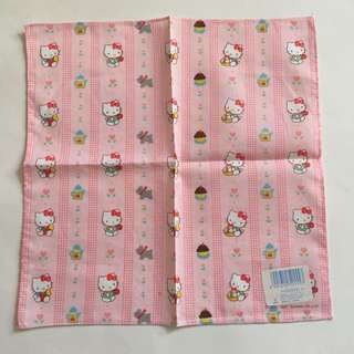 Sanrio vintage Hello Kitty 手巾 1987