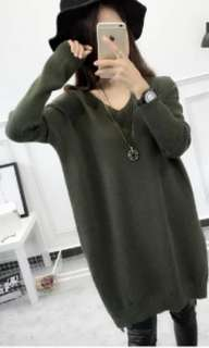 Army Green Long Sleeve Sweater