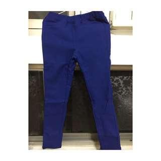 韓系超顯白寶藍內刷毛長褲