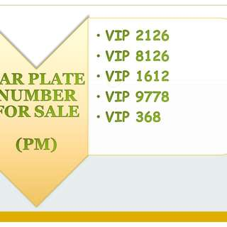 VIP car plate for sale