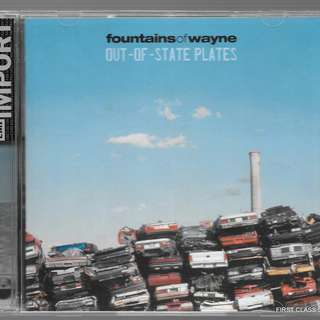 MY PRELOVED CD - FOUNTAINS OF WAYNE - OUT OF STATE PLATES - 2 CDS - /FREE DELIVERY (F3L)