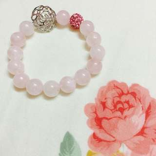 Natural Rose Quartz Crystal Bracelet *Promo*