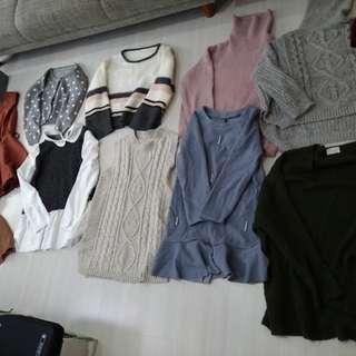🚚 平均一件65元 韓風23件一起賣共1500 外套 洋裝 背心 毛衣