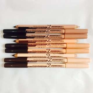 2 in 1 Eyeliner/Eyebrow Pencil