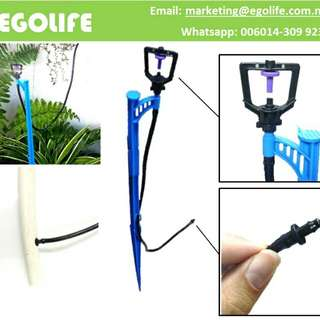 K-Type Micro Sprinkler with 60cm Stake for Home & Gardening Irrigation, Water Spray