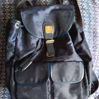 MCM nylon and leather backpack vintage