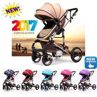 💯2017Brand New German design Wisesonle 4Air tyres baby stroller/pram/Offer/limited stock/Special offer/limited quantity