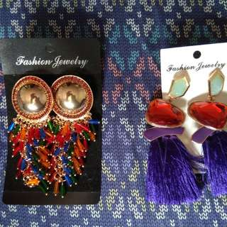Lot of 2 fashion earrings anthropologie inspired