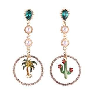 Summer cactus earings