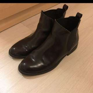 Pull&Bear 皮鞋 Boot 深啡 高筒靴