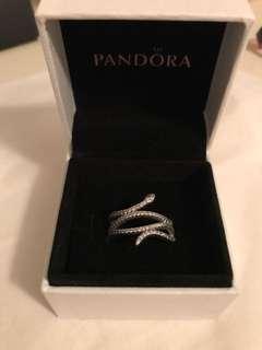 Retired Pandora snake ring