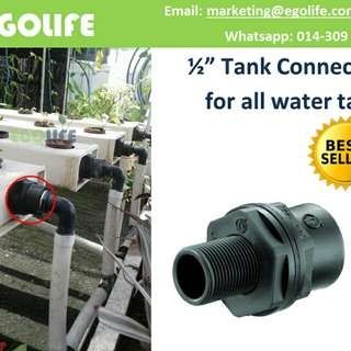 "Tank Connector 1/2"" for all water tank, Farm Garden Irrigation Water Tank"