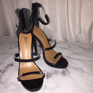 Nasty Gal Clear Strappy Heels