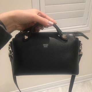 FENDI by the way small bag - black leather