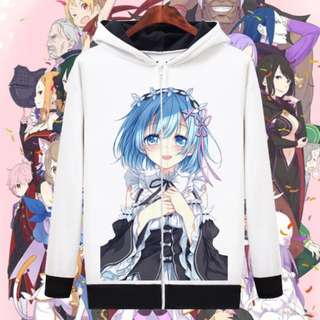 Re:Zero Illustrative Anime Jacket Hoodie Sweater Shirt Apparel