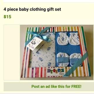 4 piece baby gift set - newborn