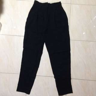 Navy blue high waist trouser