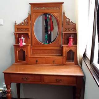 Authentic Antique Peranakan Nonya Teakwood Dressing Table