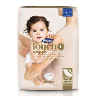 Drypers Touch L Tape diapers