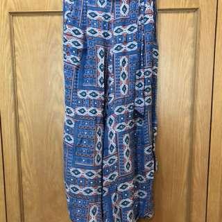 Patterned Culottes Flowy Pants