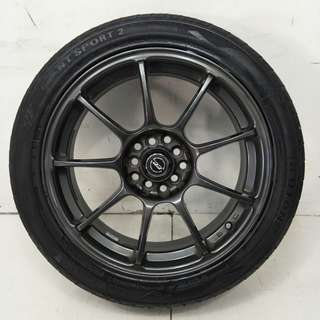 17 '' Sport Rim With Tyre 5x100 5x114.3 (SR952)
