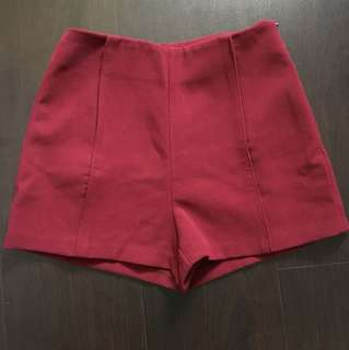 Love bonito Sanders Shorts Burgundy S