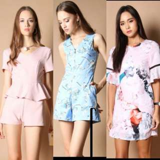 TSW rompers florals