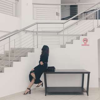 H&M bodycon dress with slit