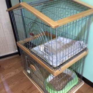 白鐵貓籠(雙層)