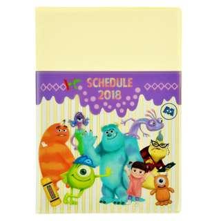 日本 Disney Store 直送 Monster Inc. 怪獸公司 2018年B6 月間 Schedule Book