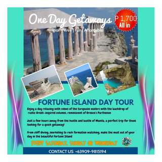 FORTUNE ISLAND DAY TOUR updated
