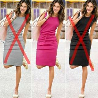 Ladies Slim Belt Dress