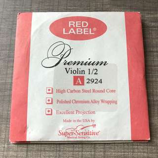 Red Label Premium Violin String 1/2 A