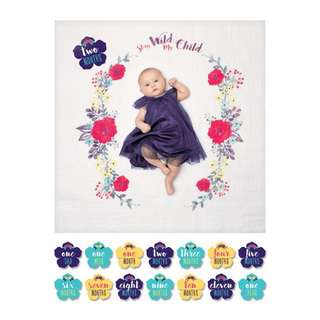 Muslin blanket and cards set