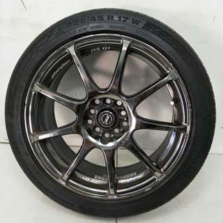 17 '' Sport Rim With Tyre 5x100 5x114.3 (SR957)
