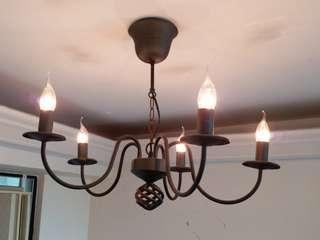 工業風黑色金屬古典天花吊燈 (Ceiling light / lamp)