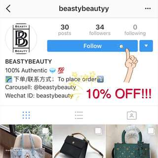 FOLLOW ME ; 10% OFF!!!