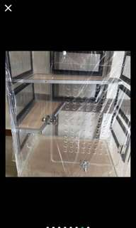 Very high quality Chinchilla Tall Acrylic cage 24x18x30 new architectural design