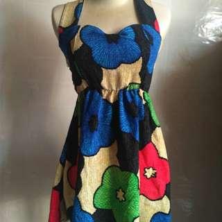 Minidress bunga