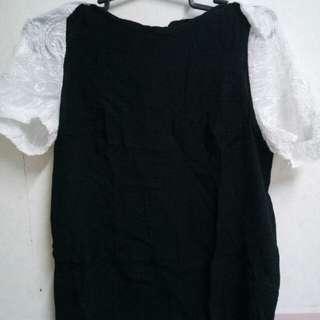 Formal blouse (navy blue & white)