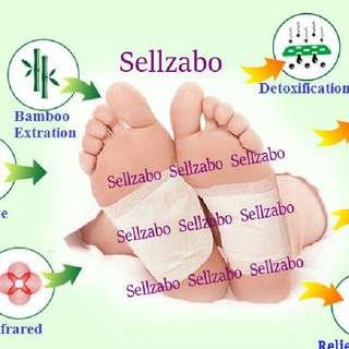 Wood Vinegar Detox Soles Foot Pads Patch Patches Vitarealm Detoxing Healthy Nano Tech Relieves Stress Blood Circulation Improves Sleep Removes Waste Toxins Sellzabo